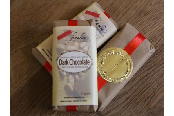 Chocolate Bar: With Cocoa Nibs and Pink Himalayan Sea Salt
